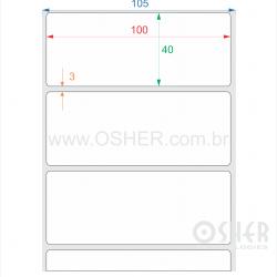 Etiqueta Adesiva Papel Térmico Com Barreira 100  x 40  x 1