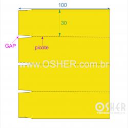 Etiqueta Adesiva Couchê 100  x 30  x 1 GE Gôndola Chap Amarelo