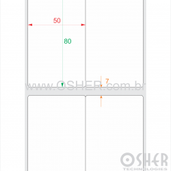 Etiqueta Vinil Transparente 0,08 Microns Liner Grosso 50  x 80  x 2 ESP7H